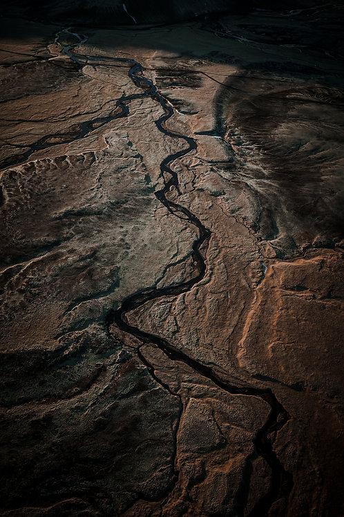 Rivière marron Islande