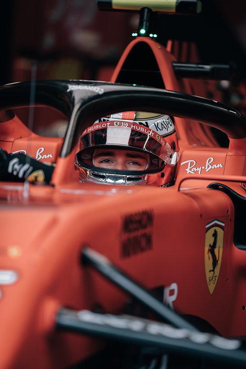 Portrait Charles Leclerc GP Monaco 2019