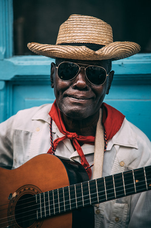 Portrait guitariste Cuba