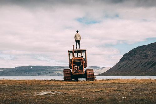 Tracteur abandonné Islande