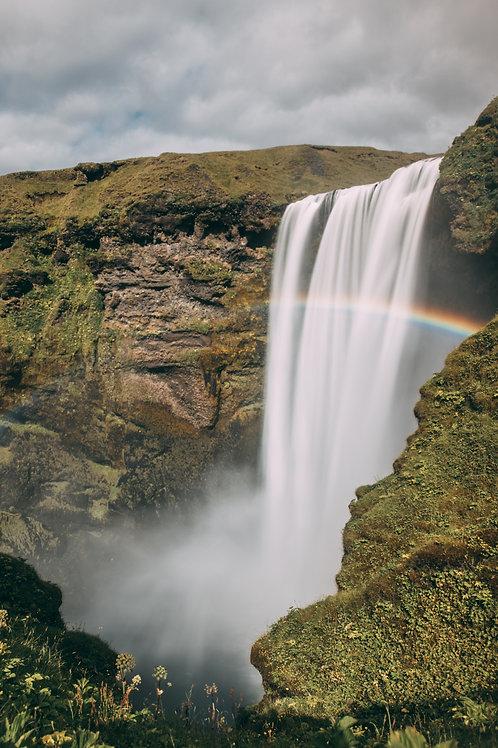 Cascade arc en ciel Islande