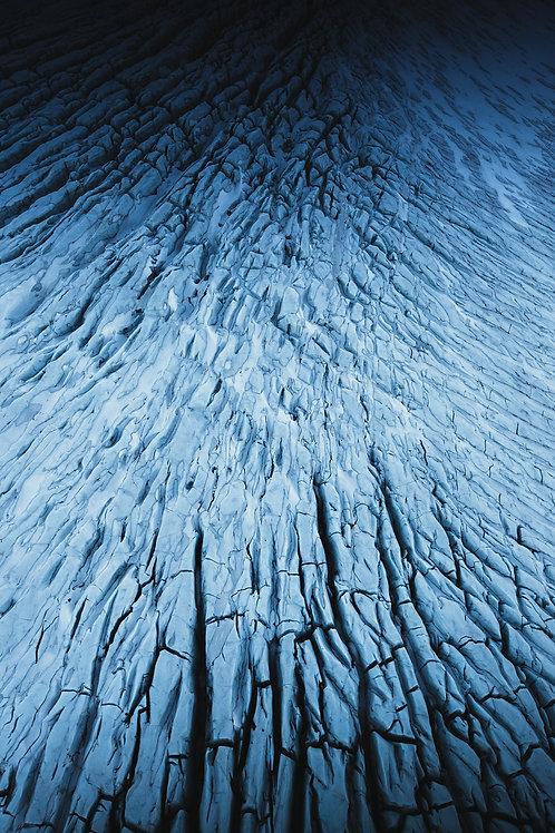 Glacier vue du ciel 2 Islande Vertical