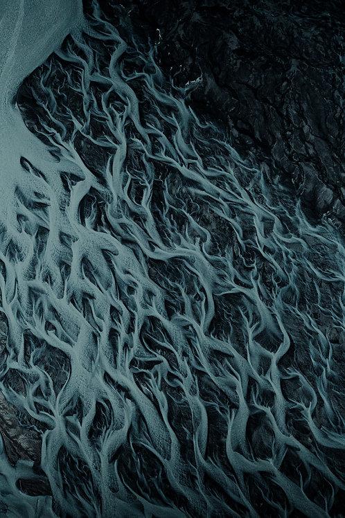 Rivière vue du ciel 4 Islande