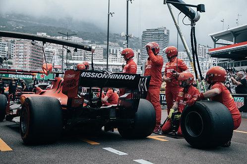Pit stop Charles Leclerc F1 GP Monaco 2019
