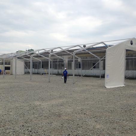 熊本に支援物資を保管する倉庫を建設しました‼