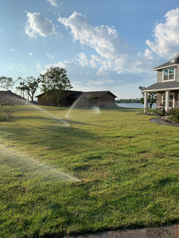 Lawn and Lawn Care System Installed