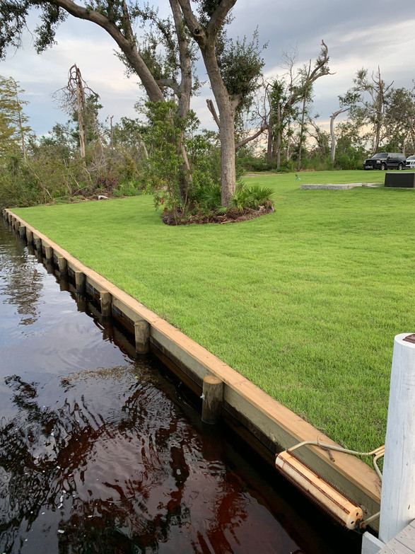 New House landscaping grand dunes