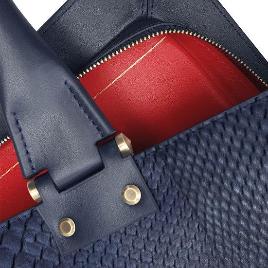 Gabin python navy blue/red