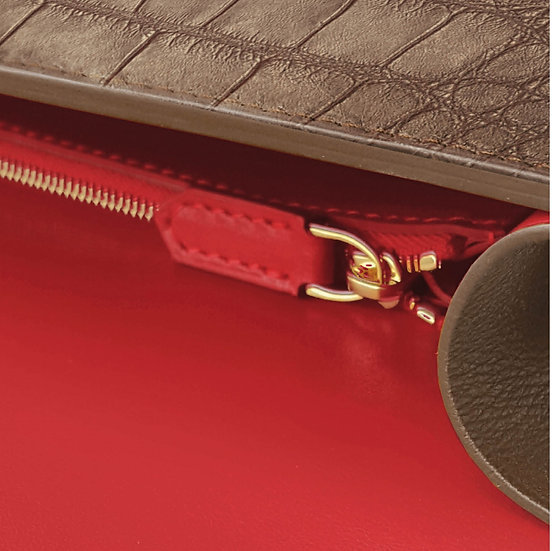 Valmont crocodile brown/red