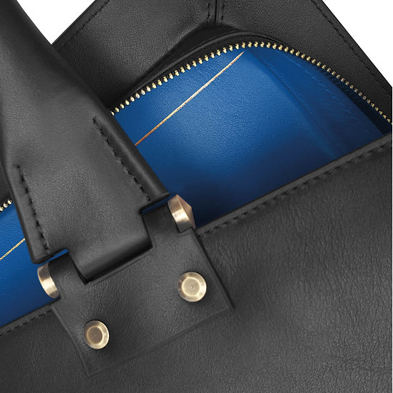 Gabin calf black/royal blue