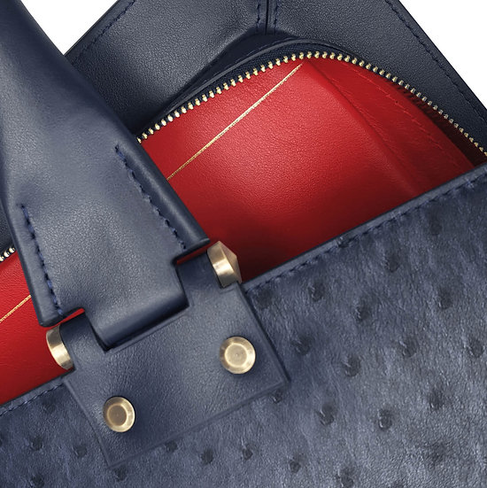 Gabin ostrich navy blue/red