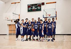 高校バスケットボールチーム