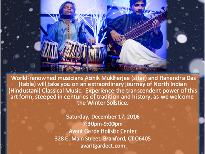 Celebrate the Winter Solstice with an Evening of Indian Classical Music
