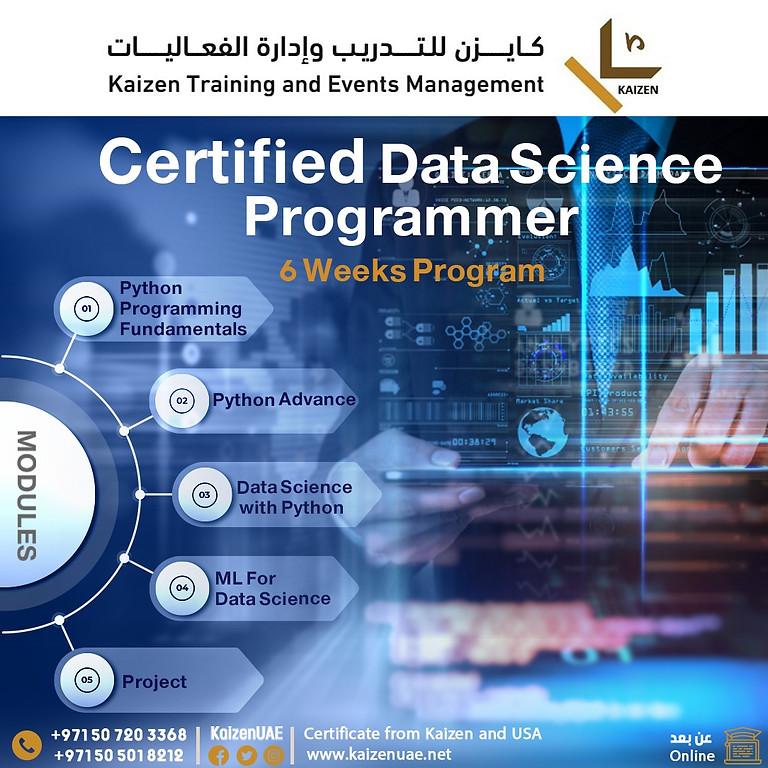 Certified Data Science Programmer