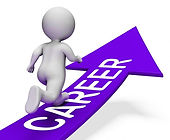 career-arrow-indicates-line-of-work-and-