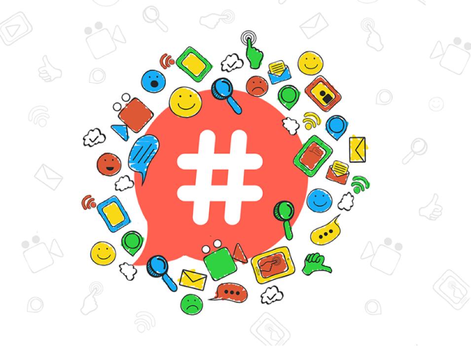 cómo funcionan los hashtags