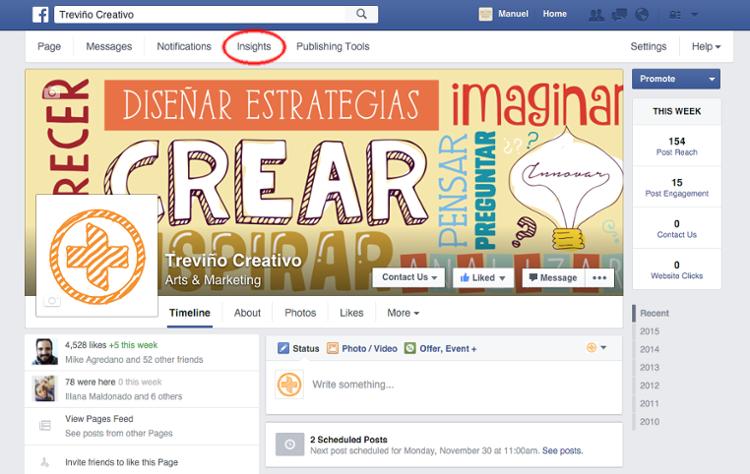 cómo interpretar Facebook Insights