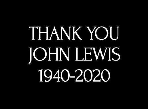 """""""Be Optimistic. Never Lose That Sense Of Hope.""""-John Lewis"""