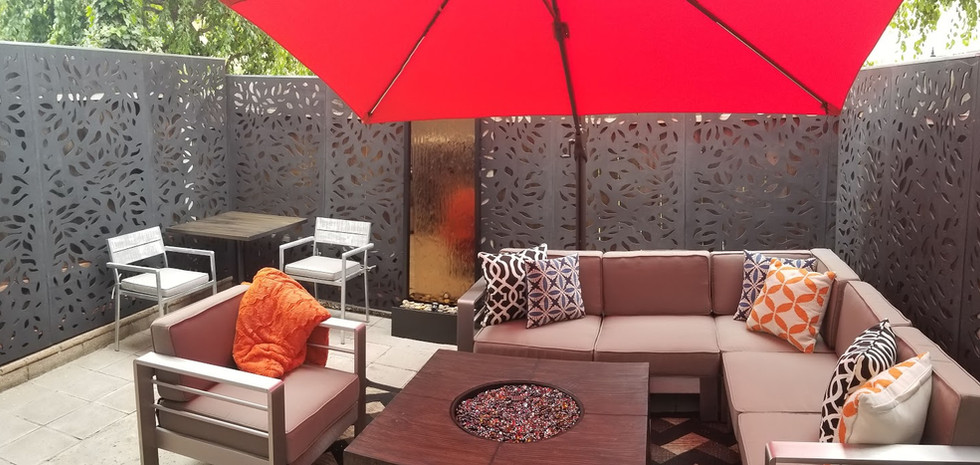 Small space patio conversion