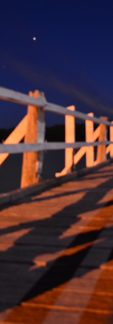 Existing footbridge at night