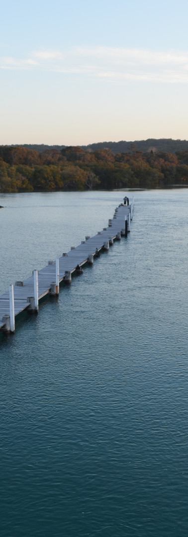 Existing pier at high tide