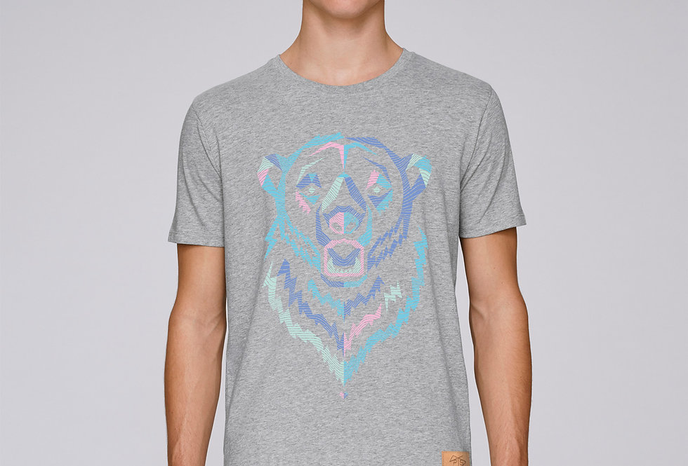 Bio Herren T-Shirt Polar Bear grey