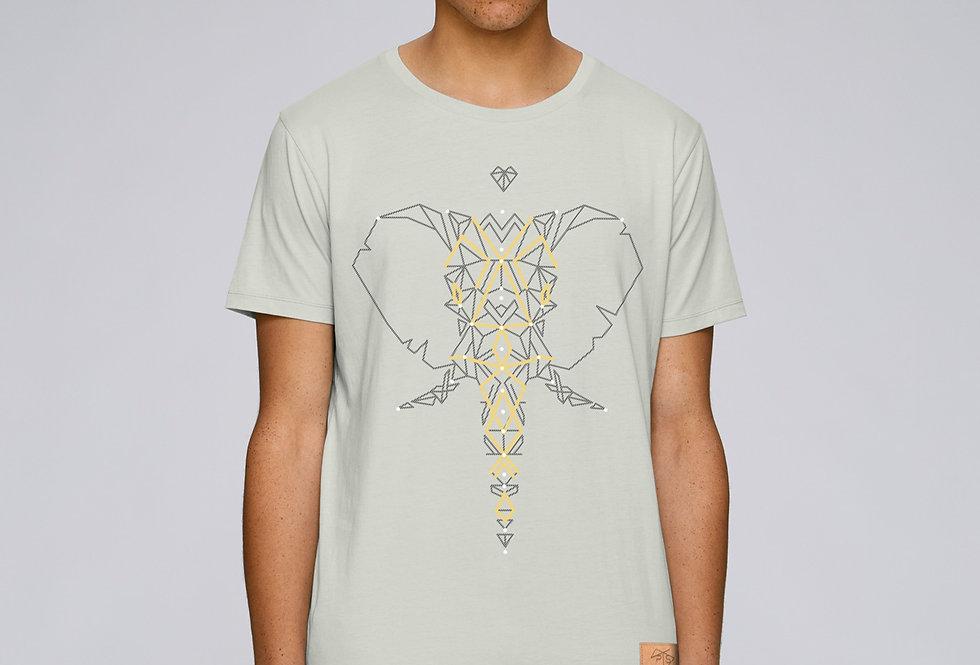 Bio Herren T-Shirt Elefant opaline