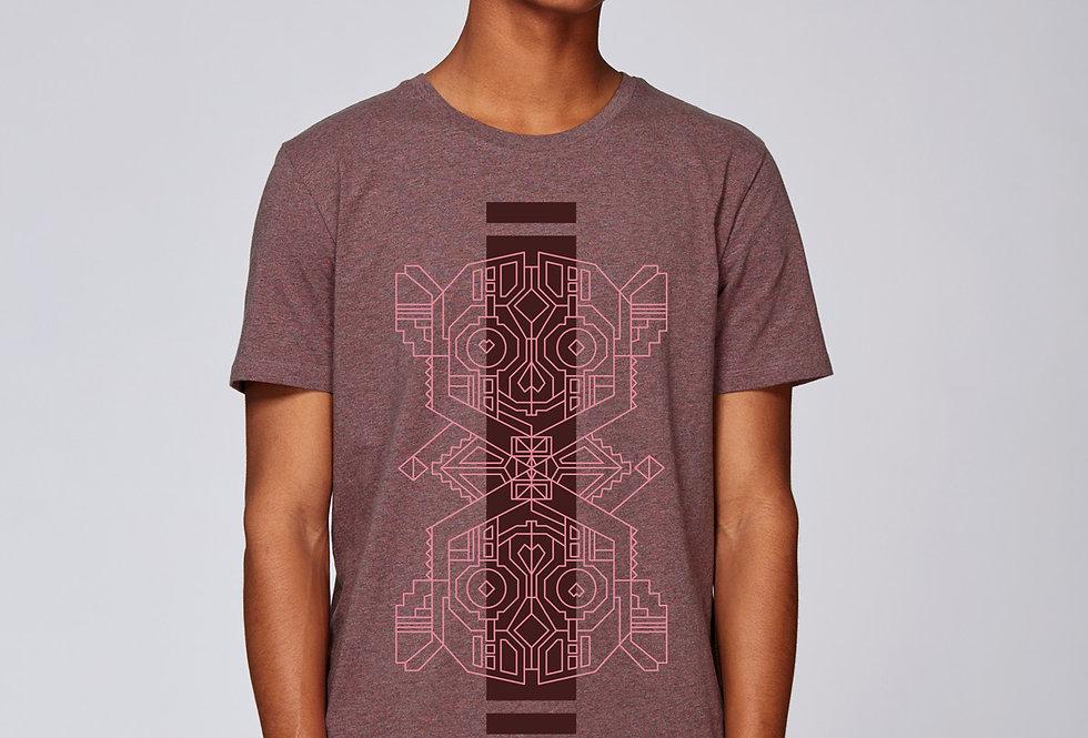 Bio Herren T-Shirt Makiheads cranberry