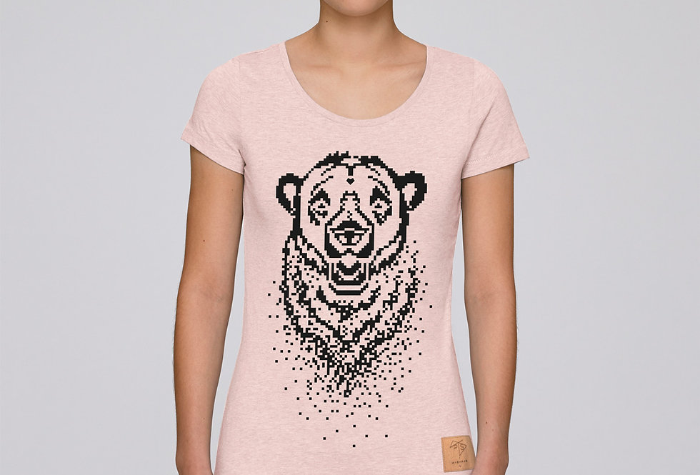 Bio T-Shirt pixel bear lightpink