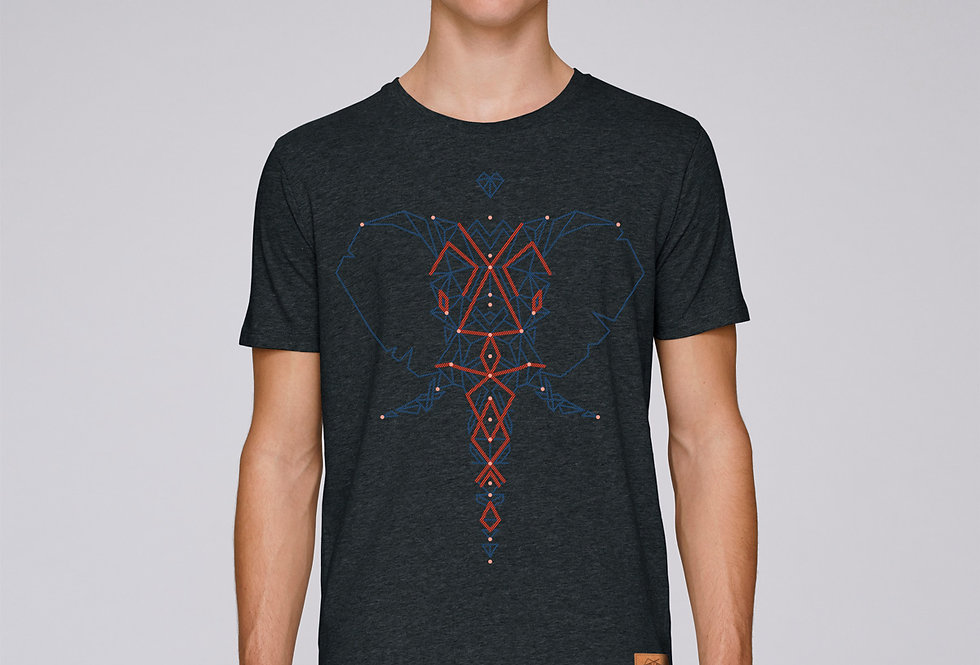Bio Herren T-Shirt Elefant schwarz