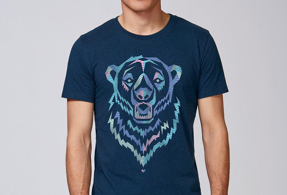 Bio Herren T-Shirt Polar Bear blue
