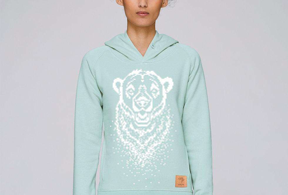Bio Hoodie Pixel Bear mint