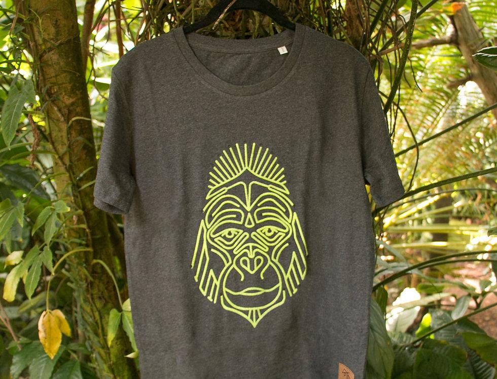 Handbedrucktes Herren Bio T-Shirt Unikat