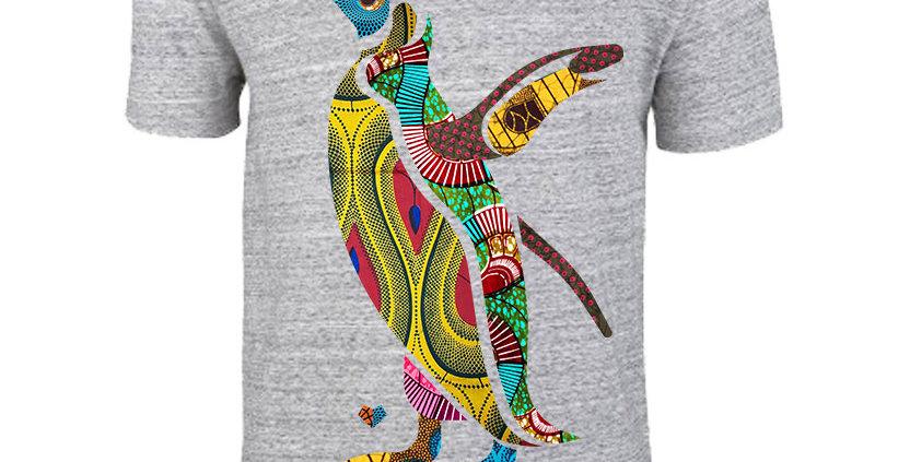 Bio Herren T-Shirt African Penguin grey