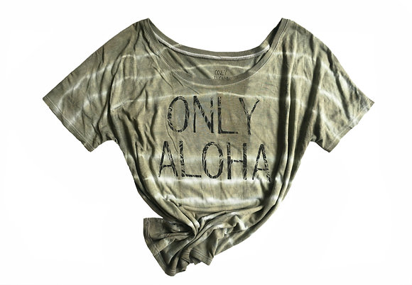 "Women's Dyed Loose-Fit Logo Tee - ""Nainoa"""