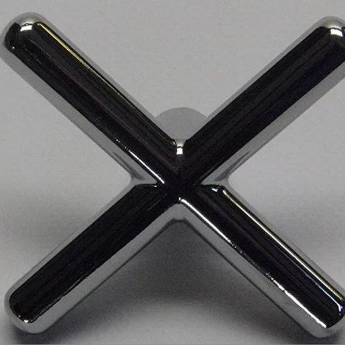 Chromen brug - model kruis zonder dopjes