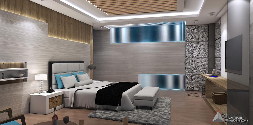 Evonil Architecture - Residence Pangkalan Bun - Bedroom 1