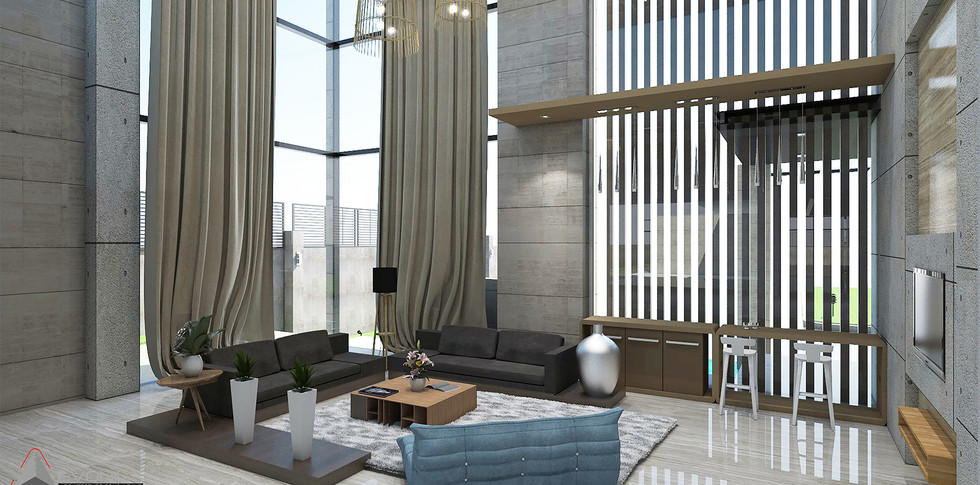 Evonil Architecture - Residence Pangkalan Bun - Guest Room Day