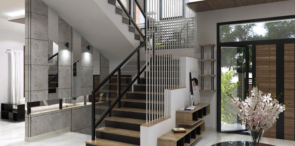 Evonil Architecture - Residence Pluit Timur - Tangga Utama Rev