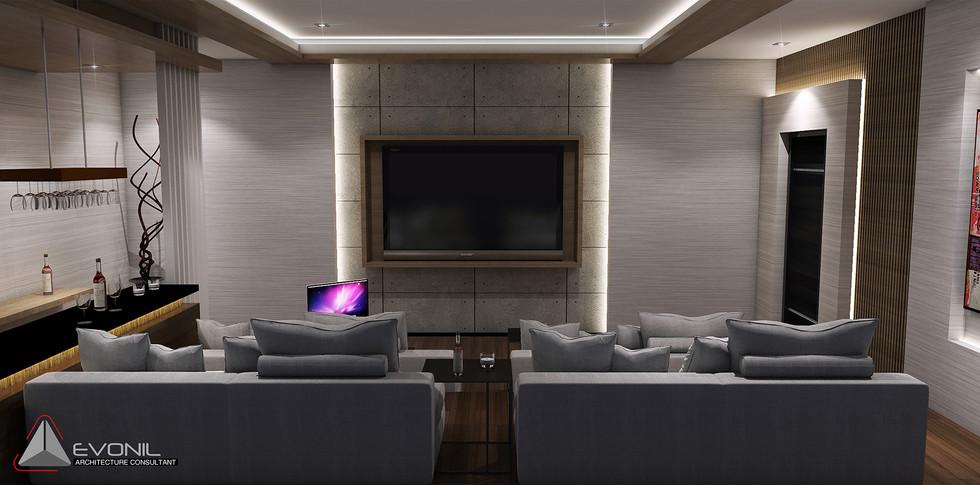 Evonil Architecture - Residence Pangkalan Bun - Entertainment Room View