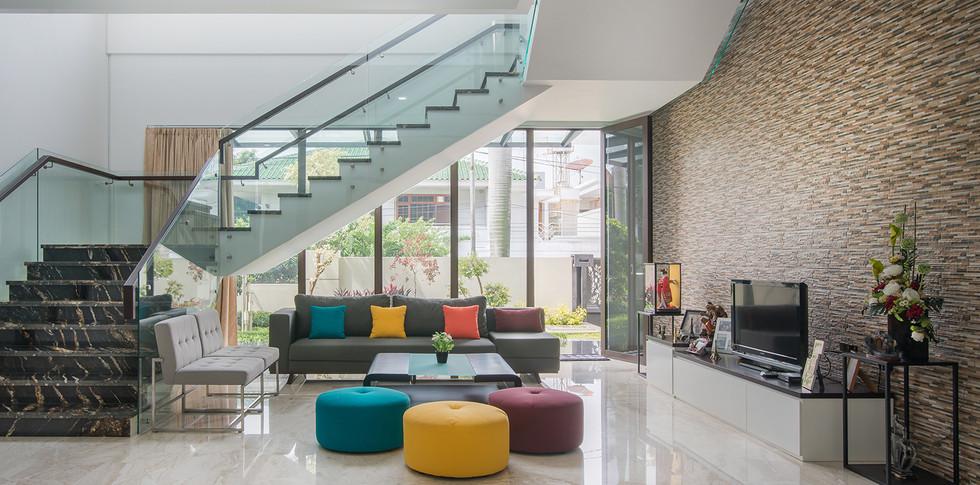 Evonil Architecture - Residence Green Garden - Ruang Keluarga