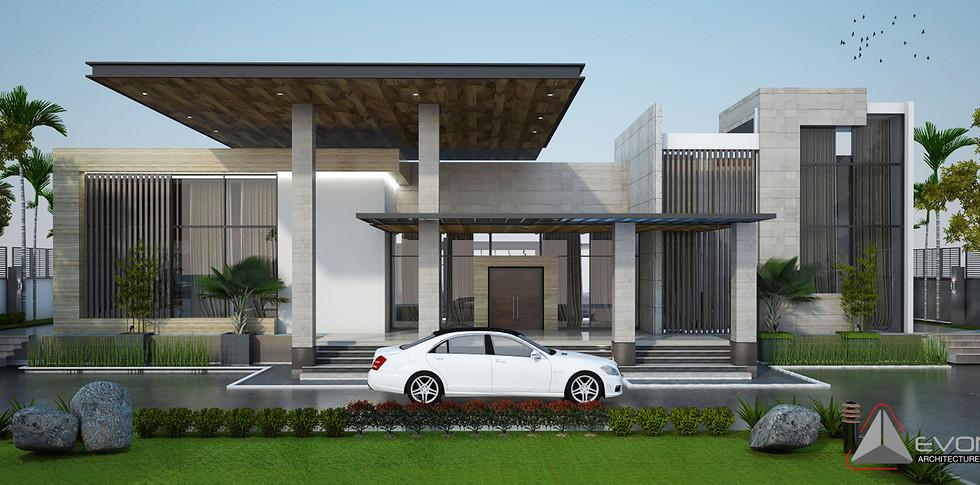 Evonil Architecture - Residence Pangkalan Bun - Eksterior-1