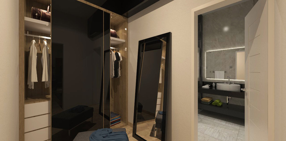 Evonil Architecture - Residence Pluit Timur - Walk in Closet Master Bedroom