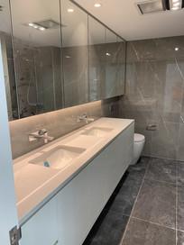 Custom bathroom lighting design