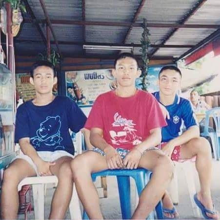 15 years old Keng with his gym mates.