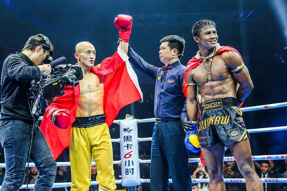 Buakaw vs Yi Long 2 - Buakaw came out short on judges' unanimous decision. Photo credit: Buakaw Banchamek FB Page