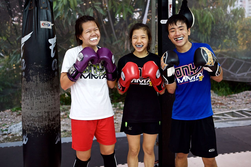 Part of the Team Onyx Boxers : Audrey, Myself & Junwei