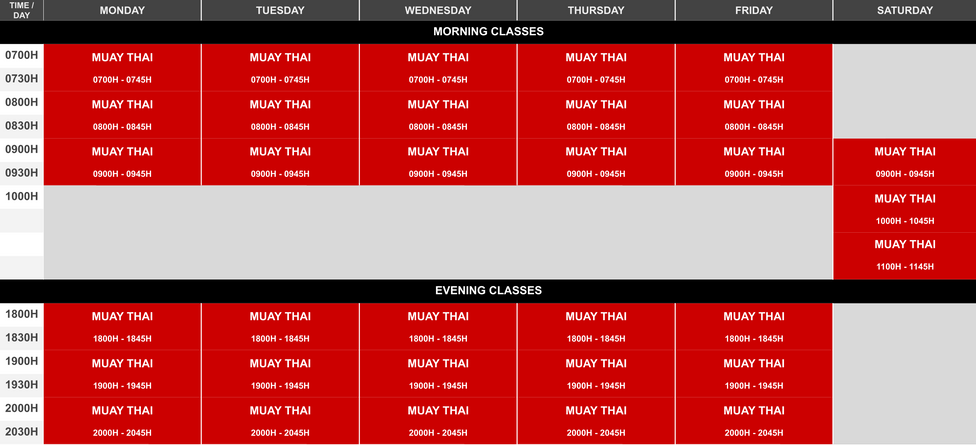 Onyx Nord Class Schedule