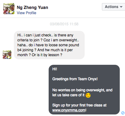 The Onyx Facebook Chat