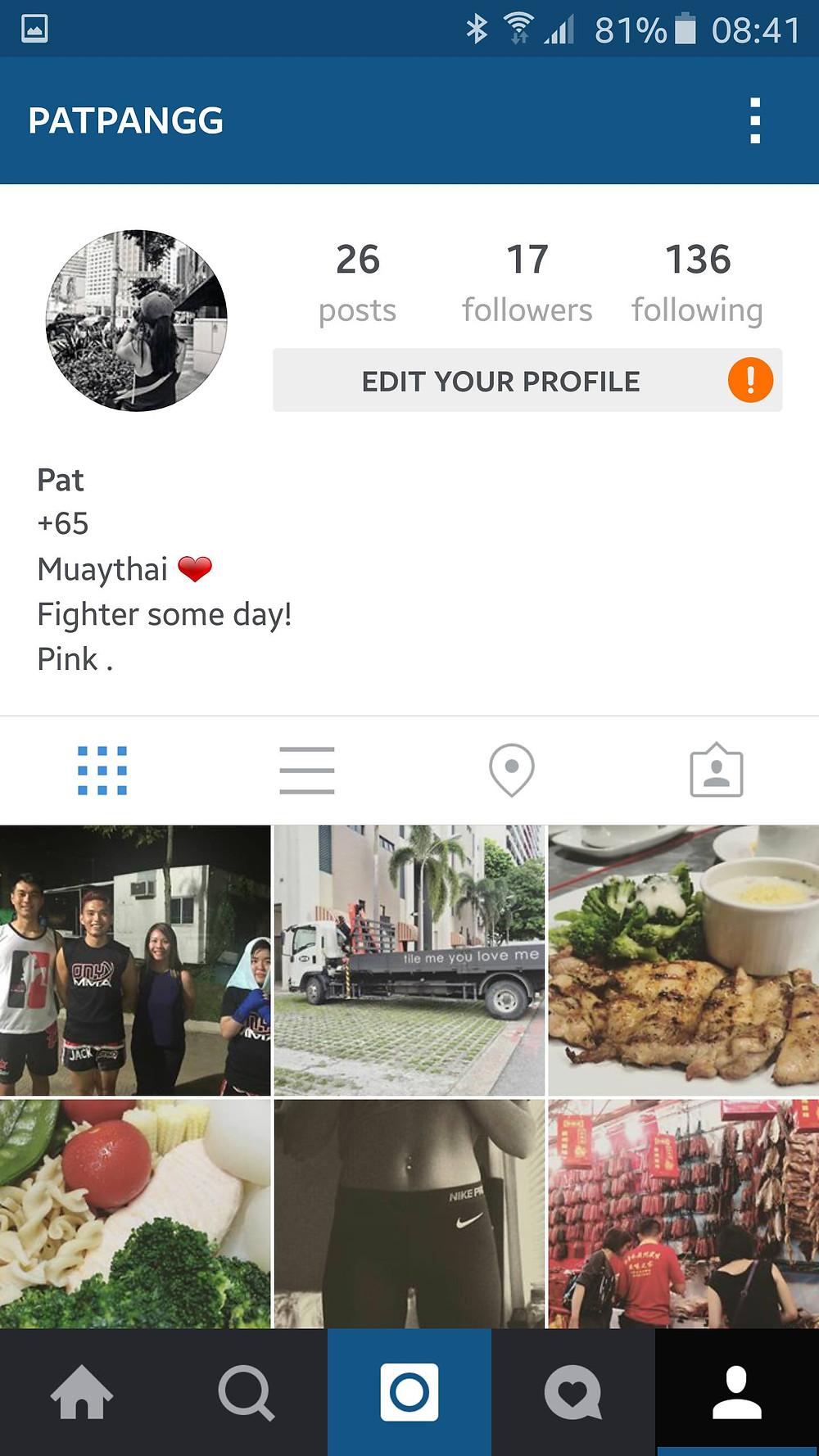 Pat Pang's IG Account